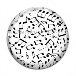 Cabochon Verre - note de musique