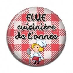 Cabochon Résine - élue cuisinière de l'année