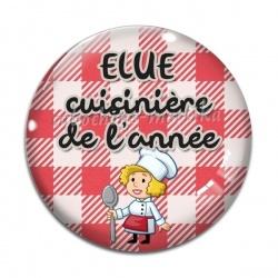 Cabochon Verre - élue cuisinière de l'année