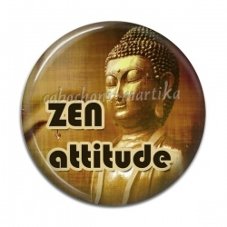 Cabochon Résine - meditation zen attitude