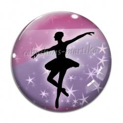 Cabochon Verre - danseuse