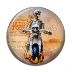 Cabochon Résine - motard squelette