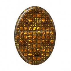 Cabochon Résine Ovale - brillant doré