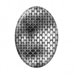 Cabochon Résine Ovale - ovale argent
