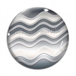 Cabochon Verre - vague