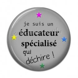 Cabochon Résine - je suis une educateur spécialisé qui dechire