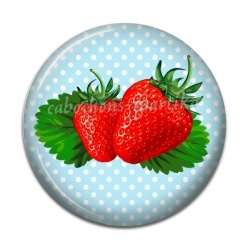 Cabochon Résine - fraise