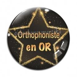 Cabochon Verre - orthophoniste en or