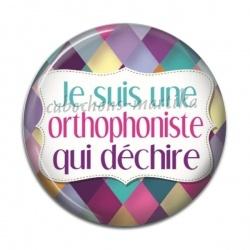 Cabochon Résine - je suis une orthophoniste qui déchire