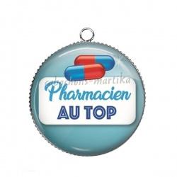 Pendentif Cabochon Argent - pharmacien au top