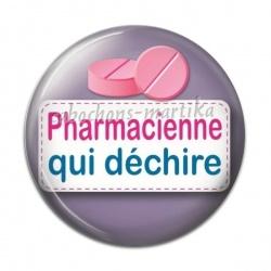 Cabochon Résine - pharmacienne qui déchire