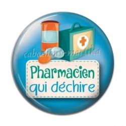 Cabochon Résine - pharmacien qui déchire