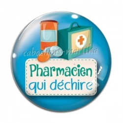 Cabochon Verre - pharmacien qui déchire