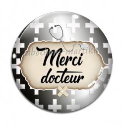 Cabochon Verre - super docteur