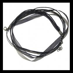 Collier cordon organza noir