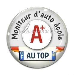Cabochon Verre - moniteur d'auto école