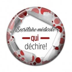 Cabochon Résine - secrétaire médicale qui déchire