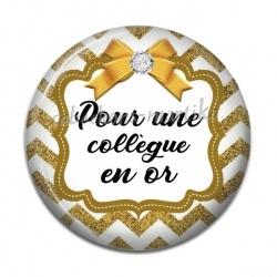 Cabochon Résine - pour une collègue en or
