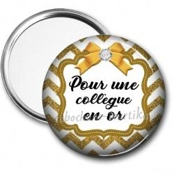 Miroir de poche - pour une collègue en or