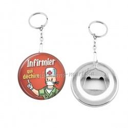 Porte clés décapsuleur - infirmier qui déchire