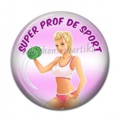 Cabochon Résine - super prof de sport