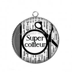 Pendentif Cabochon Argent - super coiffeur