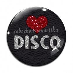 Cabochon Verre - musique disco