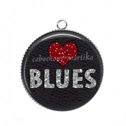 Pendentif Cabochon Argent - musique blues