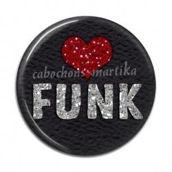 Cabochon Résine - musique funk