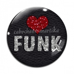Cabochon Verre - musique funk