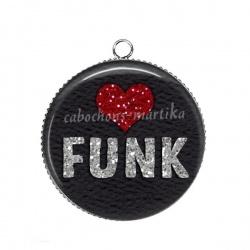 Pendentif Cabochon Argent - musique funk