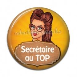Cabochon Résine - secrétaire au top
