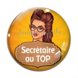Cabochon Verre - secrétaire au top