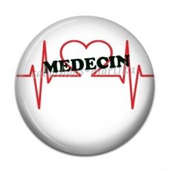 Cabochon Résine - médecin votre prénom