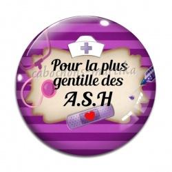 Cabochon Verre - pour la plus gentille des A.S.H