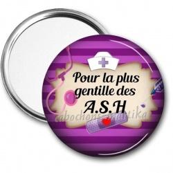 Miroir de poche - pour la plus gentille des A.S.H