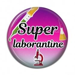 Cabochon Résine - super laborantine