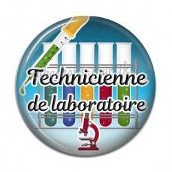 Cabochon Résine - technicienne de laboratoire
