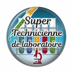 Cabochon Résine - super technicienne de laboratoire