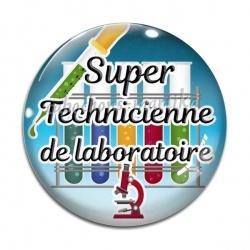 Cabochon Verre - super technicienne de laboratoire