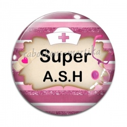 Cabochon Verre - super ash