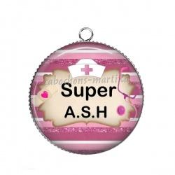 Pendentif Cabochon Argent - super ash