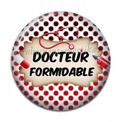 Cabochon Résine - docteur formidable