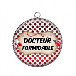 Pendentif Cabochon Argent - docteur formidable