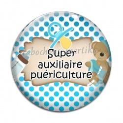 Cabochon Verre - auxiliaire de puériculture