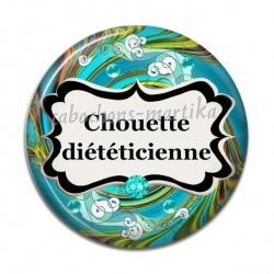Cabochon Résine - chouette diététicienne