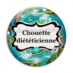Cabochon Verre - chouette diététicienne