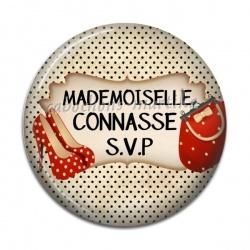 Cabochon Résine - mademoiselle connasse svp