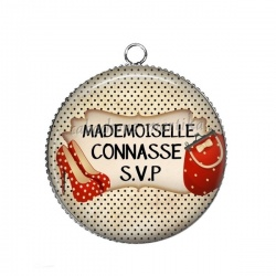 Pendentif Cabochon Argent - mademoiselle connasse svp