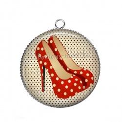 Pendentif Cabochon Argent - chaussure